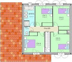 plan etage 4 chambres construction 86 fr plan maison traditionnelle à étage buxerolles