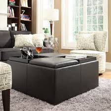 Leather Storage Ottoman Home Decorators Collection Classic Faux Leather Storage Ottoman In