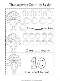 printable thanksgiving counting book pages happy thanksgiving