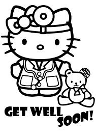get well soon kid print coloring image hello coloring hello and sanrio