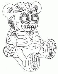 sugar skull with roses coloring pages coloring home