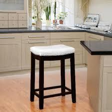 linon home decor linon home decor claridge 26 in white cushioned counter stool