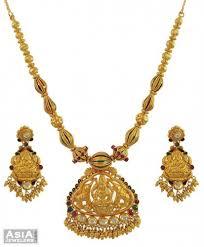 temple design gold earrings 22k antique temple set ajns54774 22k gold designer