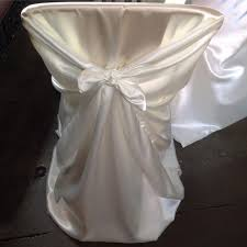 used chair covers for sale universal satin self tie chair cover ivory at cv linens in white