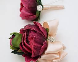 Where To Buy Corsages For Prom Burgundy Corsage Etsy