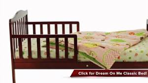 Dream On Me 4 In 1 Portable Convertible Crib by Review Of Dream On Me Classic Toddler Bed Youtube