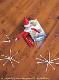 on the shelf ideas makes q tip snowflakes shelf ideas