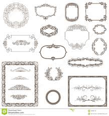vintage frame ornament and element for decoration and design