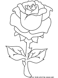 printable valentines rose coloring pages girlsfree
