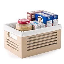 Storage Bin Shelves by Amazon Com Wooden Storage Bin Containers Decorative Closet