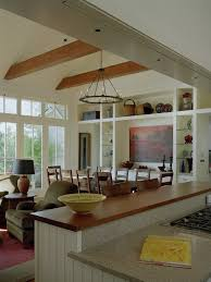 Open Kitchen Living Room Design Counter Bar Top Separating Kitchen And Great Room Design Pictures
