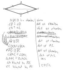 prove rhombus diagonals bisect angles students are asked to prove