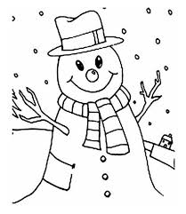 coloring pages winter smiling snowman winter coloring pages of