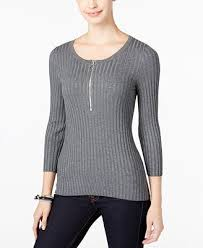 sweaters macys inc international concepts zip up ribbed sweater created for