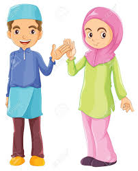 Muslim Kids Clipart Black And White Clipartxtras
