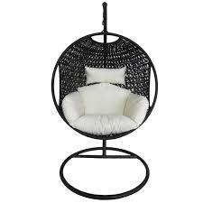 Rattan Swinging Chair White Pod Hanging Chair With Cushion Pod Hanging Chair With