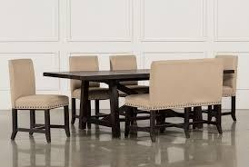 jaxon 6 piece rectangle dining set w bench u0026 uph chairs living