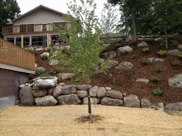 landscape a hill with rocks backyard hill landscaping ideas on
