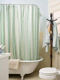 we manufacture sure check linen shower curtains seafoam green
