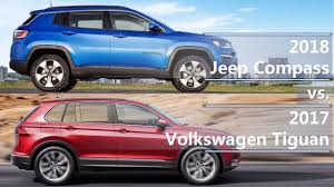volkswagen jeep tiguan 2018 jeep compass vs 2017 volkswagen tiguan technical comparison