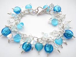 crystal heart charm bracelet images Swarovski crystal bracelet turquoise blue bracelet indian glass jpg