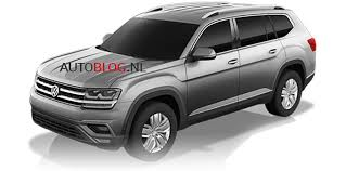 volkswagen atlas 2017 volkswagen atlas production crossblue suv to debut end of october