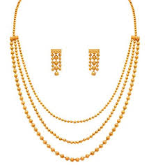 chain beaded necklace images Buy jfl jewellery for less one gram gold plated multi strands jpg