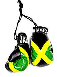 jamaica jamaican mini boxing gloves car flag decoration mirror