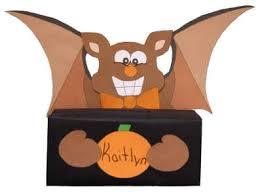 bat treat box for halloween