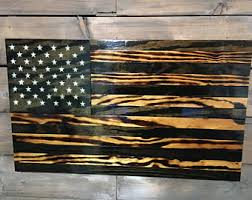 wall decor made of wood rustic american american flag veteran made wood