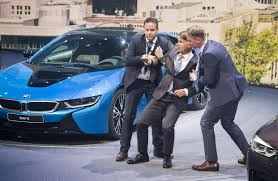 bmw ceo bmw chief executive harald krüger faints on stage at frankfurt
