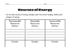 energy types worksheet free worksheets library download and