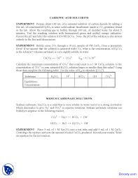 carbonic acid introductory chemistry lab manual