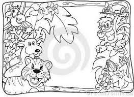 cartoon jungle animals coloring pages 393480 coloring pages for