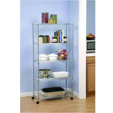 Wire Shelving Storage 5 Shelf Shelving System Steel Wire Shelves Storage Rack Kitchen