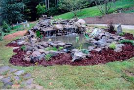 Pond Landscaping Ideas Popular Of Backyard Pond Landscaping Ideas Natural Stone Backyard