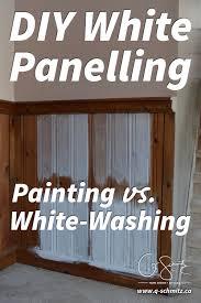 painting vs whitewashing panelling and brick madness u0026 method
