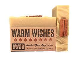 warm wishes organic soap with cinnamon