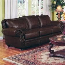 Camel Back Leather Sofa D177 501391 By Regency Furniture Wilson Collection Burgundy