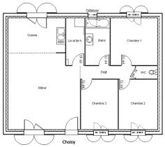 plan de maison gratuit 3 chambres plan maison 80 m2 plain pied 80m2 3 chambres 9 0 de marocaine