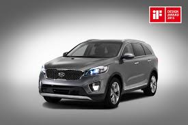 kia vehicles 2015 prestigious design award for new kia sorento