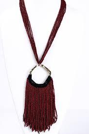 black tassel necklace images Burgundy black large tassel necklace nek1179bu tee for the soul jpg