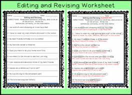 freebie revising and editing worksheets middleschoolmaestros