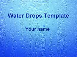 Water Powerpoint Templates by Water Drops Template Powerpoint 1 Jpg