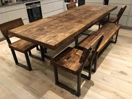 reclaimed industrial chic 6 10 seater solid wood metal
