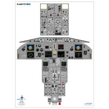 Airbus A320 Floor Plan by Airliner Cockpit Training Posters Available At Flightstore