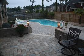 exterior elegant outdoor flooring decoration with brown paver