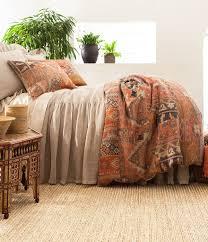 pine cone hill anatolia patchwork kilim linen duvet cover dillards