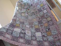 wedding gift quilt patchwork quilt cottage style shabby chic style quilt handmade