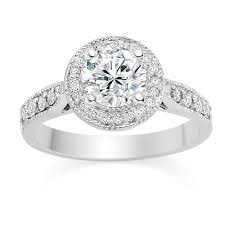 white gold engagement rings uk cut 0 75 carat halo engagement ring with side stones 18k